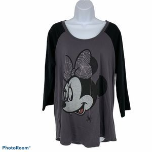 Torrid Minnie Mouse Halloween Shirt Size M